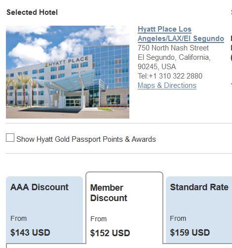 Hyatt member rate