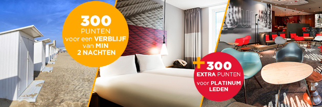 600 Accor Le Club punten bij Ibis Benelux
