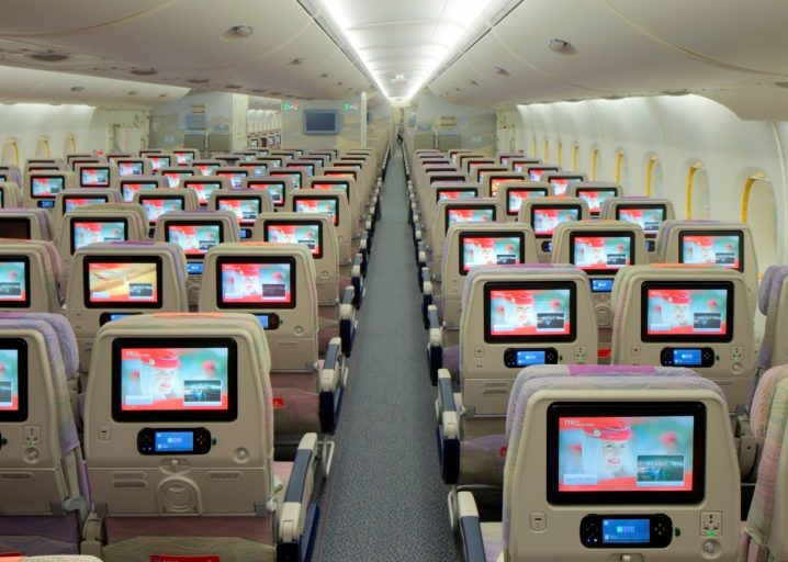 Emirates twee-klasse A380