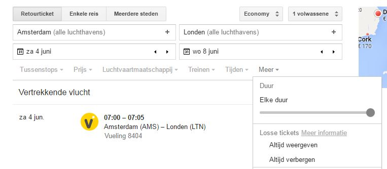 Google Flights - Individuele Tickets