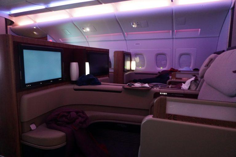 De mooiste reis van het jaar qatar airways first class for Interieur qatar airways