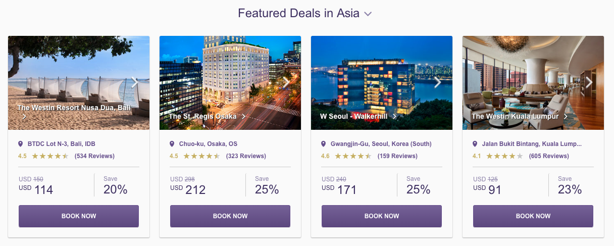 SPG Hot Escapes week 18 - featured Asia
