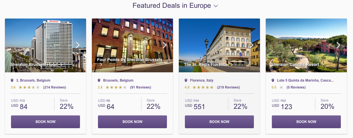 SPG Hot Escapes week 18 - featured Europe