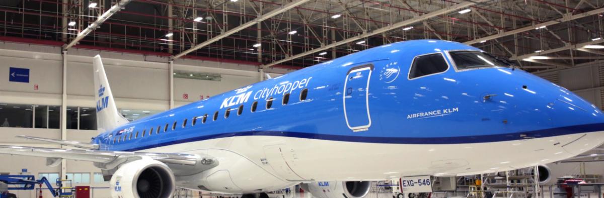 Klm Cityhopper Eerste Embraer 175 In Dienst