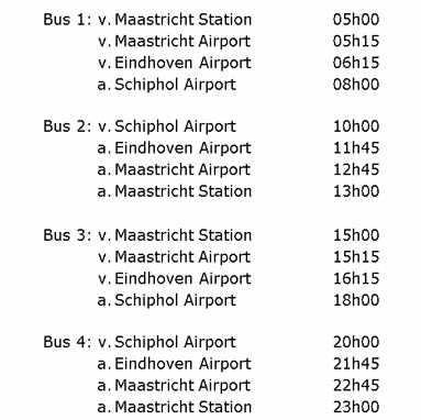 KLM busservice diensregeling