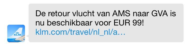 KLM NotifyMe