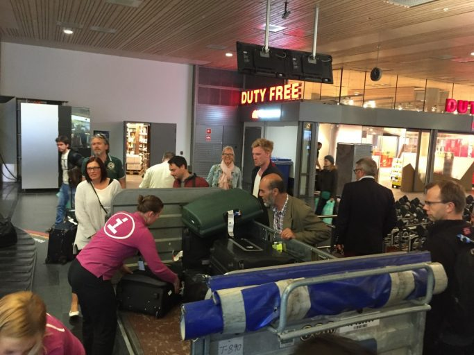 Bagageband defect Oslo Airport