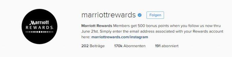 Mariott Rewards Instagram
