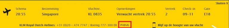 Boeing 777-300ER met nieuwe WBC: PH-BVA PH-BVN PH-BVO PH-BVP PH-BVR Boeing 777-300ER zonder nieuwe WBC: PH-BVB PH-BVC PH-BVD PH-BVF PH-BVG PH-BVI PH-BVK Per 22-6-2016