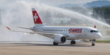 Swiss CS100 naar Schiphol