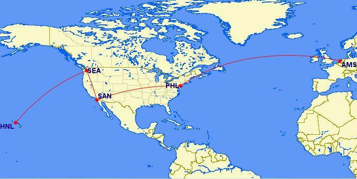 Naar Hawaii voor 20.000 miles inclusief stopover, geen gekke deal!