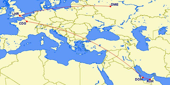 Helaas bleek mijn route met 5094 mile echter te veel van het goede....