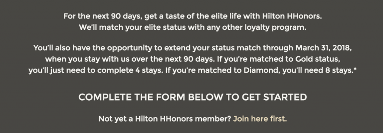 hilton status challenge