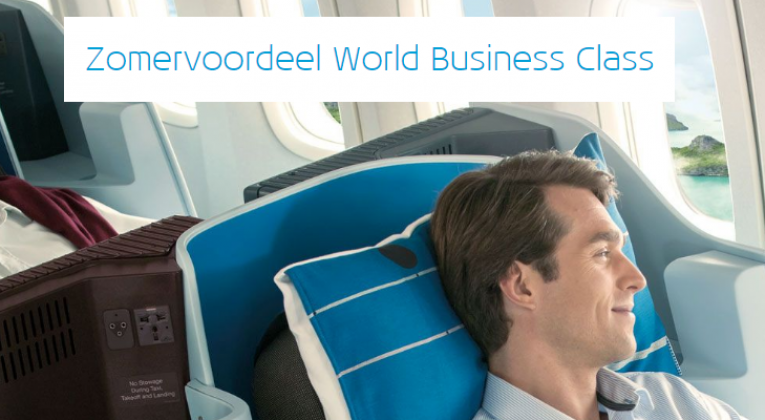 KLM Zomervoordeel World Business Class Promotie