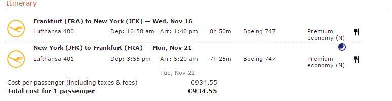 Lufthansa AirBnB ticket