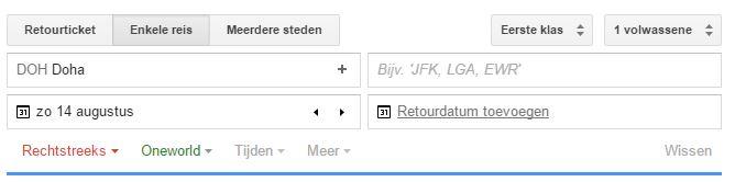 Simpel zoeken met Google Flights!