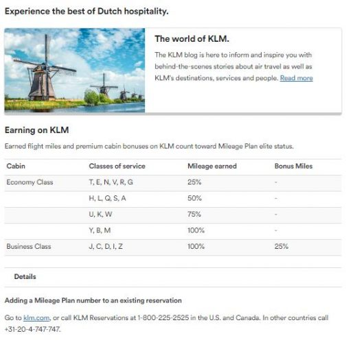 De verdientabel van KLM