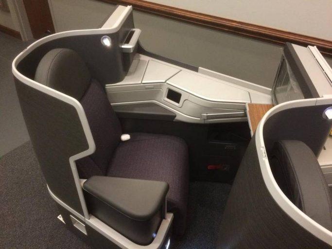 American's nieuwste Business Class stoel