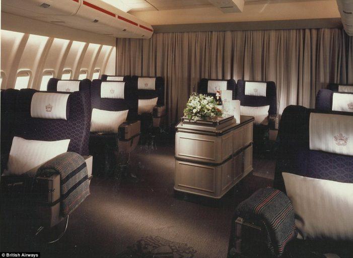 British Airways First Class jaren 80 (foto: British Airways)