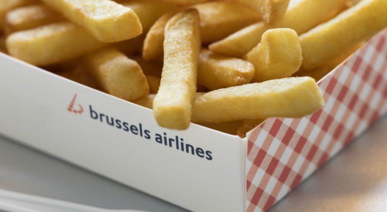 Belgische frieten bij Brussels Airline