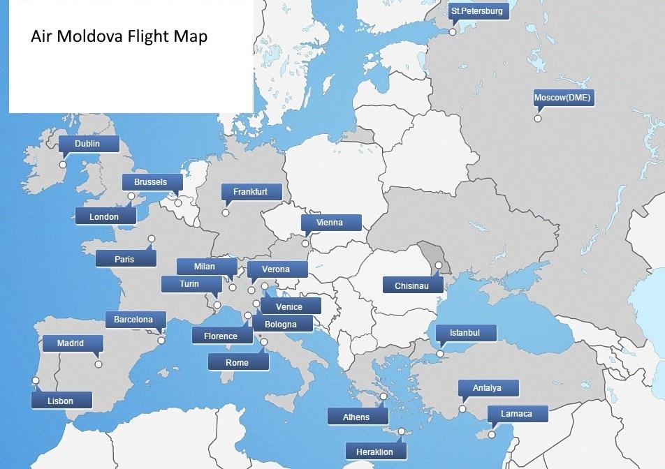 Routenetwerk Air Moldova