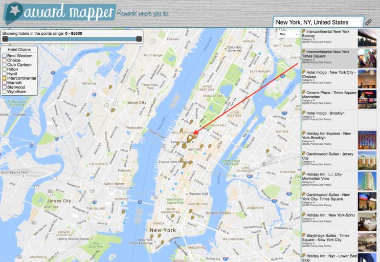 Awardmapper - NYC Manhattan IHG