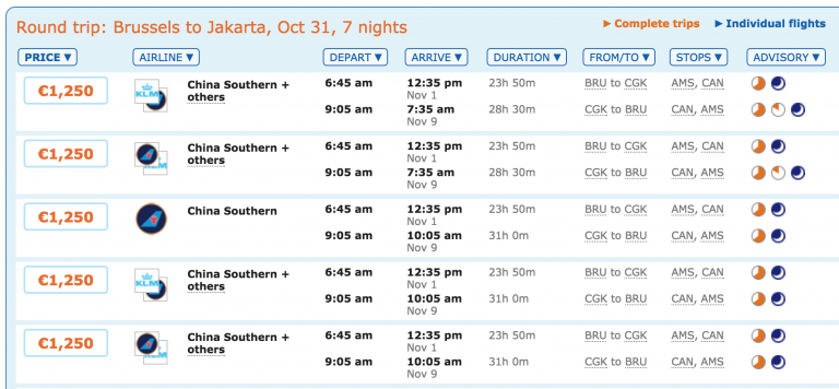 China Southern Business Class Deals