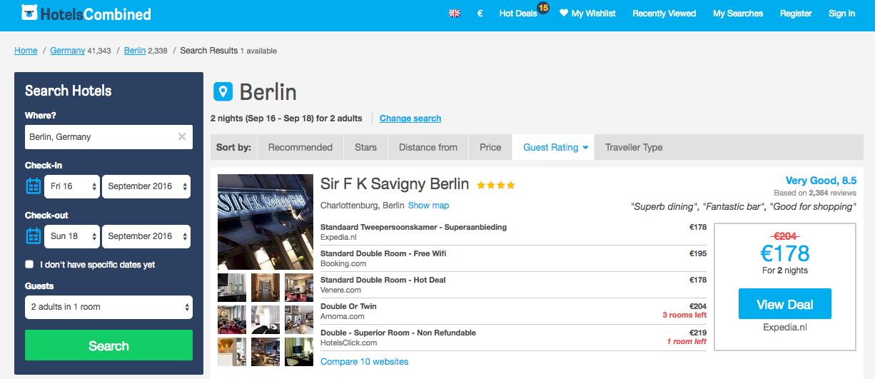 Hotelscombined.com Sir Savigny Berlin