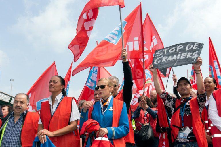 Actie FNV tegen KLM