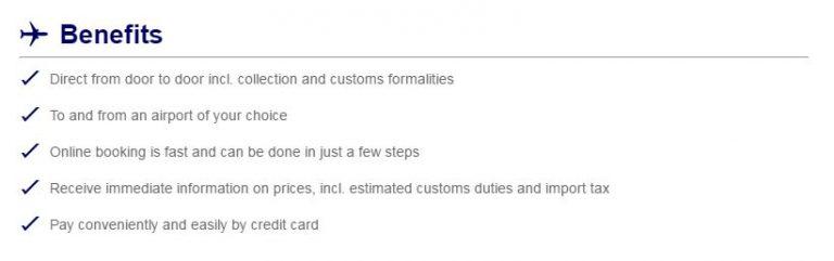 Lufthansa myAirCargo Voordelen