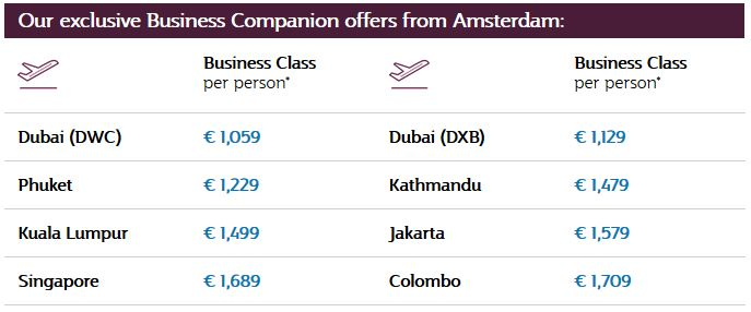 2-for-1 Qatar Business Class Sale
