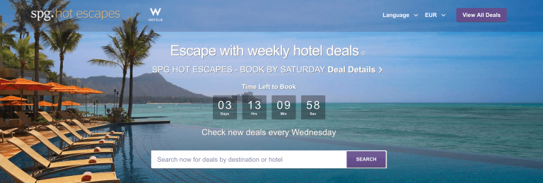 spg hot escapes