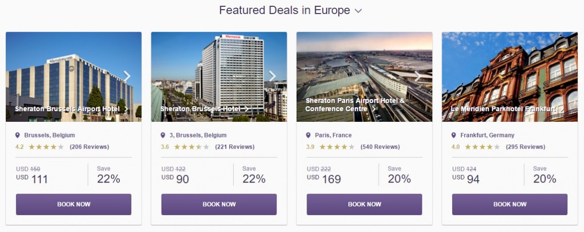 SPG Hot Escapes week 32 - Featured Deals Europe