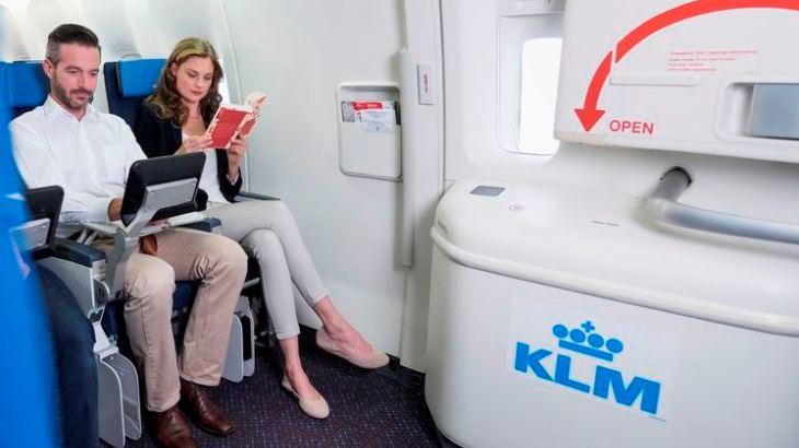 KLM stoel extra beenruimte