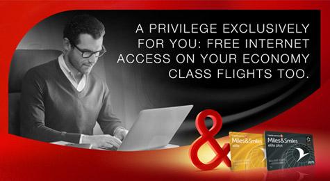 gratis internet bij Turkish Airlines