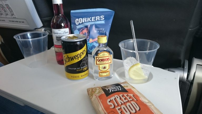 British Airways A319. Gratis drank in Economy