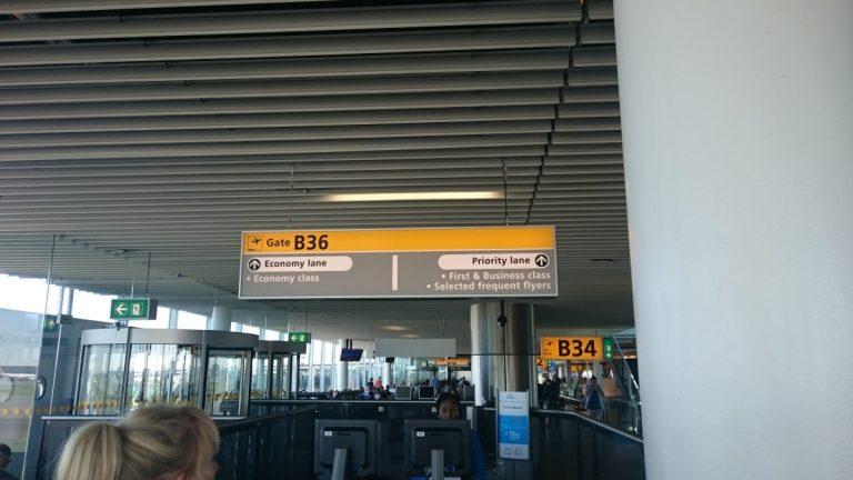 KLM Sky Priority boarding