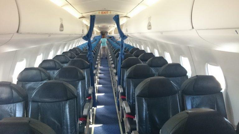 KLM Embraer 190 Cabine. Zou er nog een plekje vrij zijn?