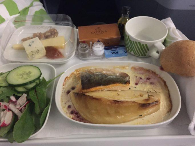 Finnair Business Class Diner