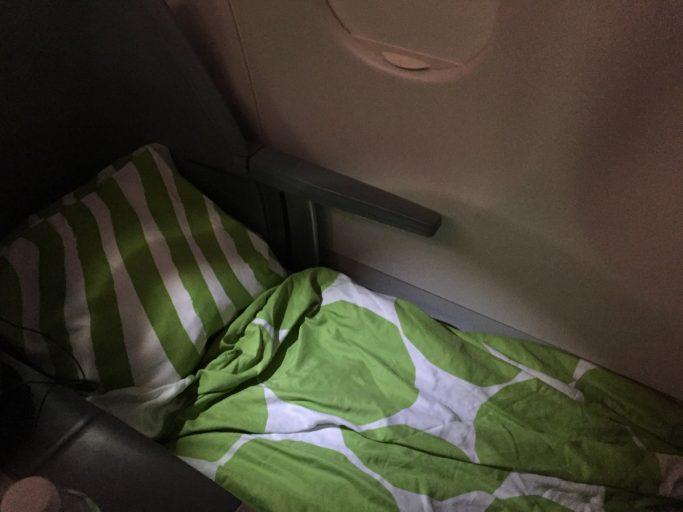 Finnair Business Class Bed