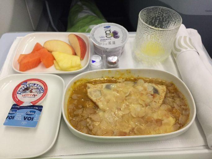 Finnair Business Class Ontbijt