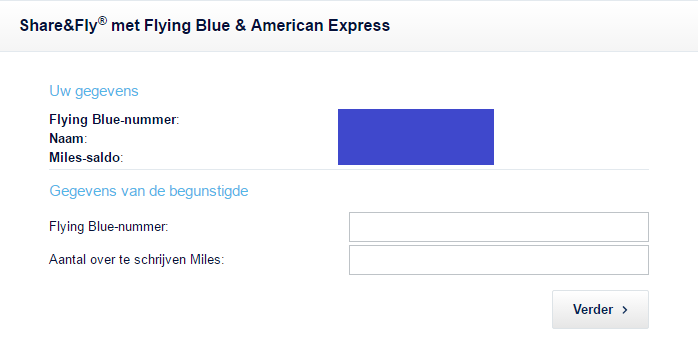 Share & Fly American Express Flying Blue