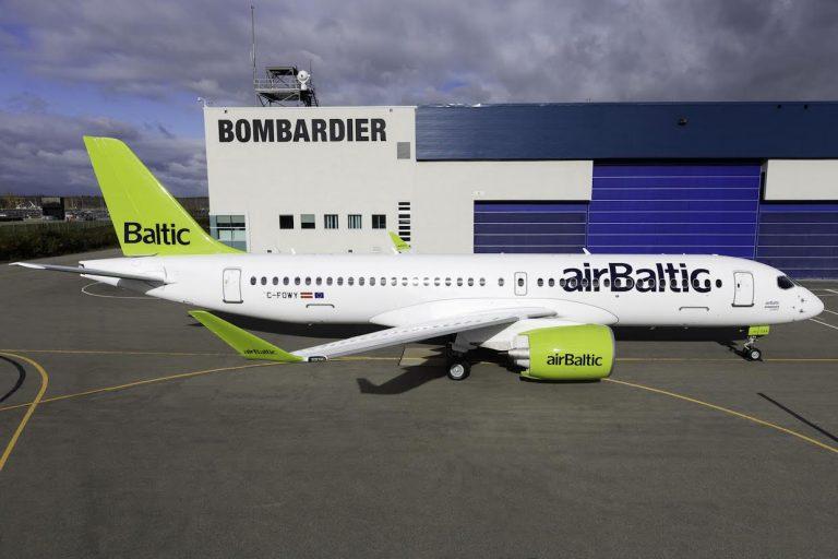 airBaltic CS300 naar Amsterdam