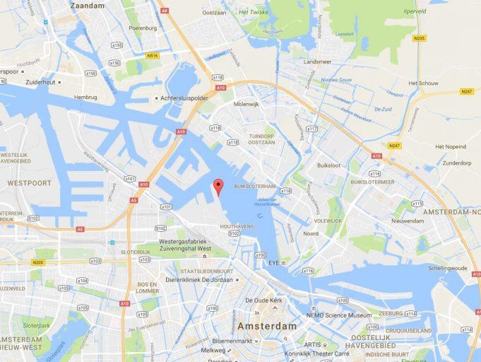 Moxy Amsterdam - locatie