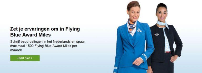 Flying Blue miles bij Tripadvisor