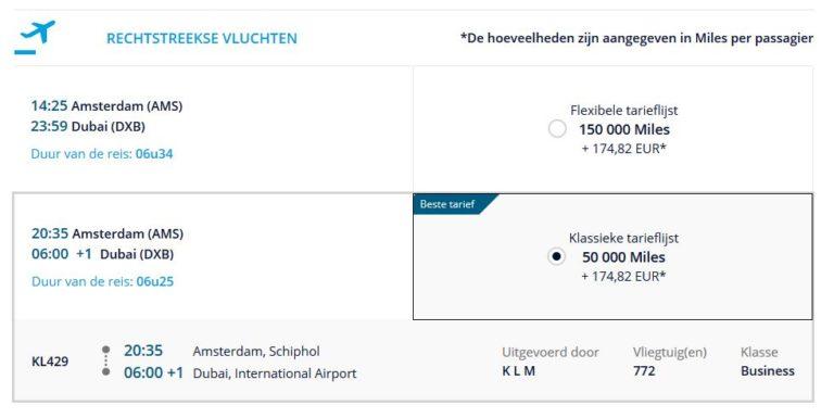 Flying Blue KLM Upgrade Award