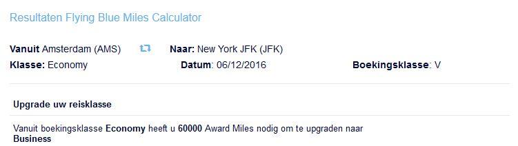 Flying Blue KLM Award Upgrade