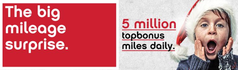 topbonus mileage surprise