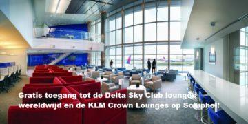 Gratis toegang tot KLM en Delta Sky Club Lounges met American Express