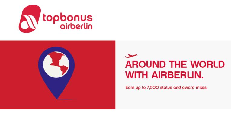 promo award bonusmiles bij Air Berlin